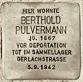 Stolperstein Lärchenweg 33 (Weste) Berthold Pulvermann.jpg