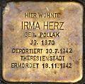 Stolperstein Salzburg, Irma Herz (Rainerstraße 2).jpg