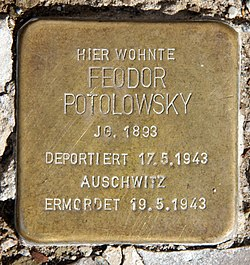 Photo of Feodor Potolowsky brass plaque