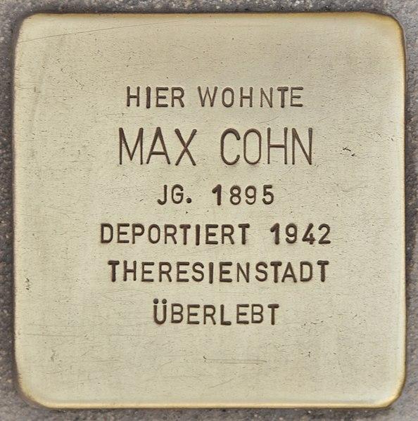 Datei:Stolperstein für Max Cohn (Wolfenbüttel).jpg