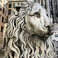 Stone lion of Genoa Cathedral.jpg