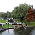 Stourport Lower Basin and wide lock to the River Severn - geograph.org.uk - 1025005.jpg