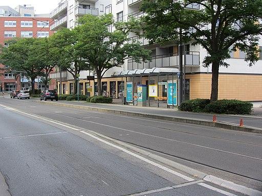 Straßenbahnhaltestelle An der Dammheide, 2, Bockenheim, Frankfurt am Main