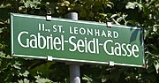 Straßenschild der Gabriel-Seidl-Gasse in Graz (Quelle: Wikimedia)