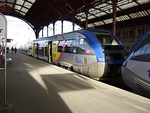 DBAG Class 641 - X 73900 (BR 641) of the SNCF at Strasbourg station working on the  Europabahn to Offenburg