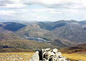 Càrn nan Gobhar (Mullardoch) - The view north from the summit to Loch Monar and Glen Strathfarrar.