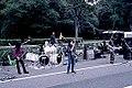 Street bands playing in a street beside the Yoyogi Park (1992-10 by sodai gomi).jpg