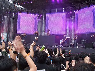 """Strike Anywhere - Strike Anywhere performing live at the music festival """"With justice we cure this nation"""", held in Taipei, Taiwan 2/28/2007."""