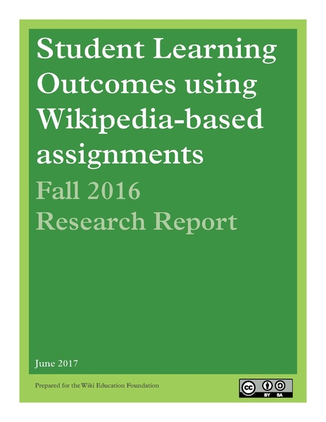 File:Student Learning Outcomes using Wikipedia-based Assignments Fall 2016 Research Report.pdf