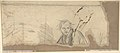 Study for the Prophet Jeremiah (recto); Studies of a Horse Seen from Below and of a Man Seated on a Chair, Probably a Self-Portrait and an Off-Print in Brown Ink of a Nude Female Abdomen and Legs (verso) MET DP804312.jpg