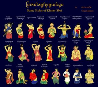 Sabai silk or brocade wrap or shoulder cloth worn by women in Thailand, Cambodia, and Laos