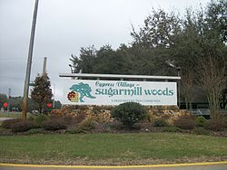 The gateway to Sugarmill Woods on US 19-98