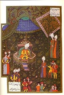 Suleiman awaits the arrival of his Grand Vizier Pargalı Ibrahim Pasha at Buda, 1529.
