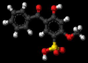Sulisobenzone - Image: Sulisobenzone 3D balls