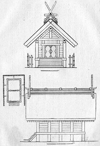 Sumiyoshi-zukuri - Image: Sumiyoshi shrine Honden