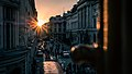 Sunset in the Old Town - Bucharest, Romania - Travel photography (35031271856).jpg