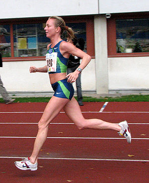 Susanne Pumper running the LCC Half marathon i...