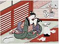Suzuki Harunobu (1724-1770), Katoenspinnen (1760).jpg