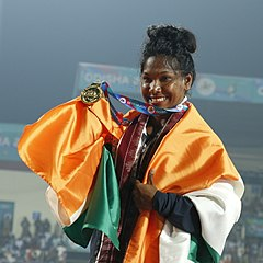 Swapna Barman Of India, Women Heptathlon Gold Winner.jpg