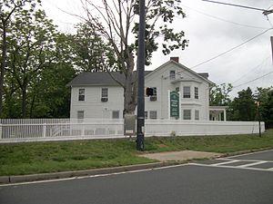 Yaphank, New York - The historic Swezey-Avey House on the southeast bank of Upper Yaphank Lake