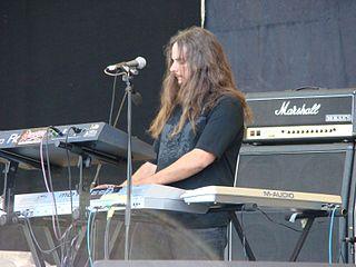 Michael Pinnella American heavy metal keyboardist