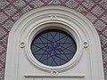 Synagogue, round window, 2019 Újpest.jpg