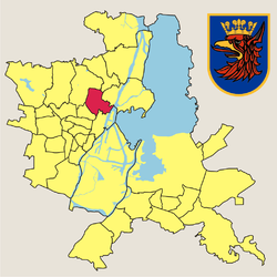 Location of Żelechowa within Szczecin