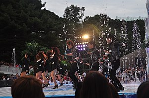 T-ara - T-ara performing at the Mnet 20's Choice Awards in 2010