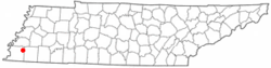 Location of Arlington, Tennessee