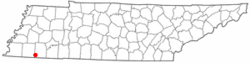 Location of Grand Junction, Tennessee