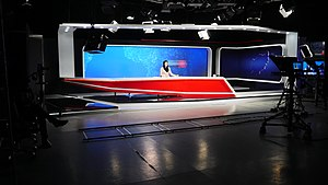 Communications in Afghanistan - Studio of TOLOnews, which is another Afghan news channel
