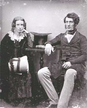 Thomas Sutcliffe Mort - T S Mort and his wife Theresa photographed about 1847