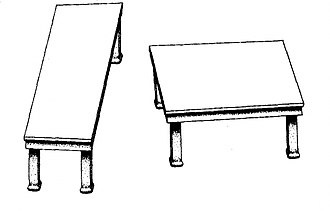 "Roger Shepard - Shepard tables illusion: The two ""tabletops"" are identical parallelograms"