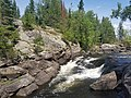 Talubi Falls in Nopiming Provincial Park in Manitoba, Canada. (43529398995).jpg