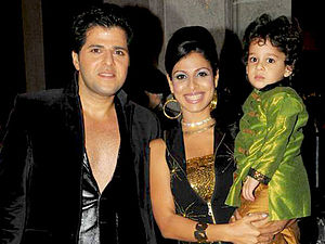 Tanaaz Irani - Tanaaz (middle) with son Zeus right and husband Bakhtiyaar Irani (left)