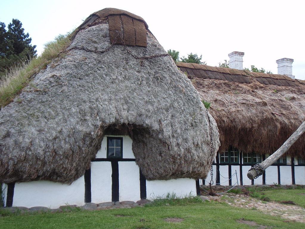 Maisons traditionnelles du musée en plein air de Copenhague.