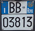 Targa automobilistica Italia 1999 BB 03813 Roma motocicletta.jpg