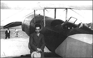 Vecihi Hürkuş - Vecihi Hürkuş with his aircraft