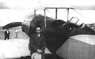 Vecihi Hürkuş - Vecihi Hürkuş with his aircraft.
