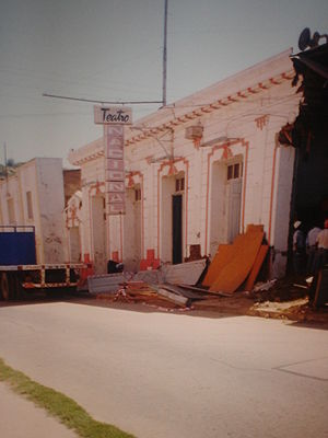 1997 Punitaqui earthquake - Ovalle National Theatre after the earthquake.