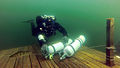 Tech diver at lake Iso-Melkutin Finland 2013.jpg