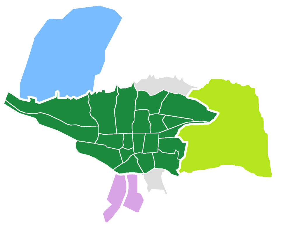 Tehran County Divisions