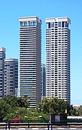 Tel Aviv Park Tzameret W Tower and W Prime Tower.jpg
