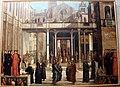 Teleri della scuola di san giovanni ev., Lazzaro Bastiani, Offerta della reliquia della Croce alla Scuola Grande (1496 circa).JPG
