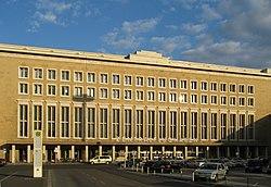 Exterior of Tempelhof Airport.