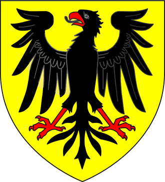 Viscount Cobham - Arms of Temple of Stowe: Or, an eagle displayed sable