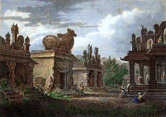 Zamorin of Calicut - Temples at Calicut by Henry Salt (1809)