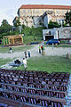 Tenkes musical, lower area of the Siklos Castle - 2009.jpg