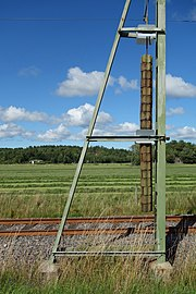 Tension weight on pole for overhead lines.jpg