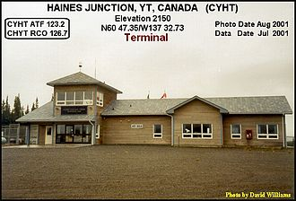 Haines Junction Airport - Image: Terminal, Haines Junction airport, Yukon 2